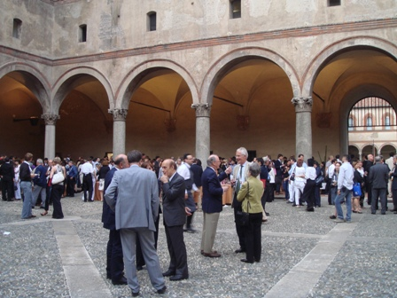 Delegations attending a dinner party in Milan
